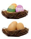 ustawiający Easter dekorujący jajka Obraz Stock