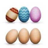 ustawiający Easter dekorujący jajka Zdjęcie Royalty Free