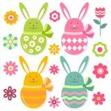 ustawiający Easter elementy ilustracja wektor