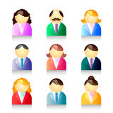 ustawiający ikon ludzie Obrazy Royalty Free