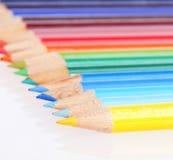 ustawiający kolorowi ołówki Obraz Royalty Free