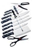 ustawiający kuchenni noże zdjęcie stock