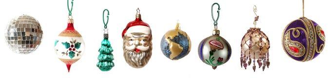 ustawiający nowożytni Boże Narodzenie ornamenty Zdjęcie Royalty Free