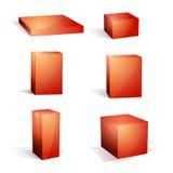 ustawiający puści pudełkowaci boże narodzenia Zdjęcia Stock