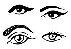 ustawiający różni oczy ilustracja wektor