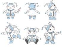 Ustawiający rysunkowi dzieciaki Fotografia Royalty Free
