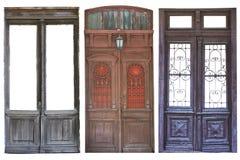ustawiający starzejący się drzwi obraz royalty free