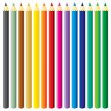 ustawiający wielcy ołówki ilustracji