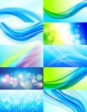 ustawiających 10 abstrakcjonistycznych tło Fotografia Stock