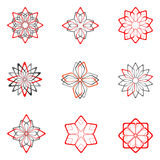 ustawiających projektów 5 dekoracyjnych elementów Zdjęcie Stock