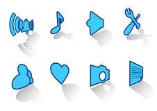 ustawiającej 43 ikony Zdjęcie Stock