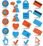 ustawiającej blog 2 ikony Zdjęcia Stock
