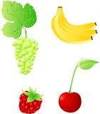 ustawiającej cztery owoc Fotografia Stock
