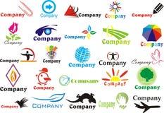 ustawiający abstrakcjonistyczni logotips Fotografia Royalty Free