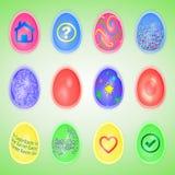 ustawiający Easter jajka ilustracja wektor