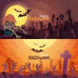 Ustawiający halloweenowi sztandary Zdjęcie Stock