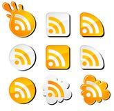 ustawiający ikon rss Zdjęcie Stock