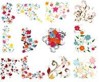 ustawiający projektów kolorowi elementy Zdjęcie Royalty Free