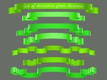 ustawiający zieleni faborki Zdjęcie Stock