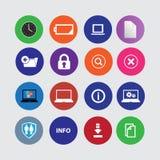 ustawiających 16 komputerowych ikon Zdjęcie Stock