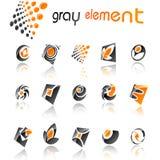 ustawiających projektów 5 abstrakcjonistycznych elementów Zdjęcie Stock