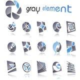 ustawiających projektów 7 abstrakcjonistycznych elementów Obraz Royalty Free