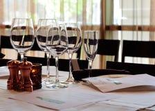 ustawiania degustaci wino Fotografia Stock