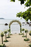 ustawianie plażowy piękny ślub Zdjęcia Royalty Free
