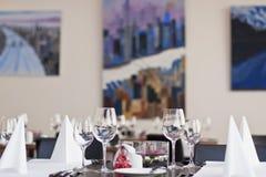 ustawianie restauraant stół Obrazy Royalty Free
