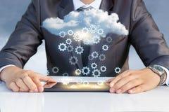 Ustawianie transfer danych od chmury Fotografia Royalty Free