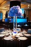 ustawienie tabeli luksusowy przyjęcie ślub obrazy stock