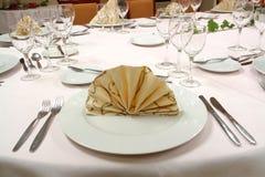 ustawienie tabeli obiad Zdjęcia Royalty Free