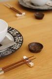 ustawienie tabeli orientalny Obrazy Stock