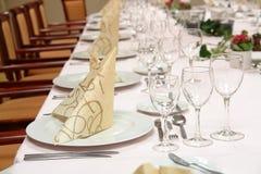 ustawienie tabeli restauracji Zdjęcia Stock