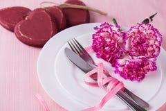 ustawienie tabeli romantyczne Obrazy Stock