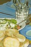 ustawienie tabeli zdrowego jedzenia obraz royalty free
