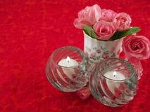 ustawiona różowa romantyczna róż sceny miękka część Zdjęcie Stock