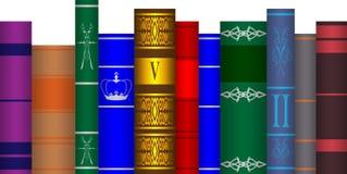 Ustawione książki royalty ilustracja