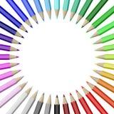 ustawionego okręgu inkasowi kolorowi ołówki royalty ilustracja