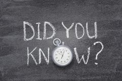 Usted conocía el reloj fotos de archivo libres de regalías