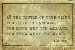 Usted conoce a Lao Tzu fotografía de archivo libre de regalías