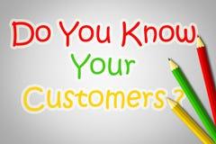 Usted conoce su concepto de los clientes stock de ilustración