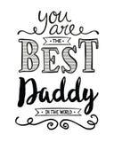 Usted es el mejor papá del mundo stock de ilustración