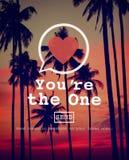 Usted es el un concepto de Valentine Romance Love Heart Dating imagen de archivo