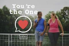 Usted es el un concepto de Valentine Romance Love Heart Dating fotos de archivo libres de regalías