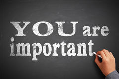 Usted es importante Fotografía de archivo libre de regalías