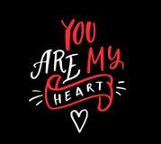 Usted es mi corazón Foto de archivo libre de regalías