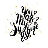 Usted es mi sol Fotografía de archivo libre de regalías