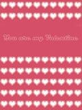 Usted es mi tarjeta 01 de la tarjeta del día de San Valentín Fotografía de archivo libre de regalías