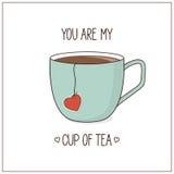 Usted es mi taza de té libre illustration